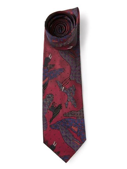 Vintage Bird Print Tie by Paul Smith in Lee Daniels' The Butler