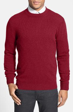Trim Fit Cashmere Crewneck Sweater by Benson in New Year's Eve