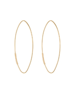 Straight Magic Large Hoop Earrings by Lana	 in Entourage