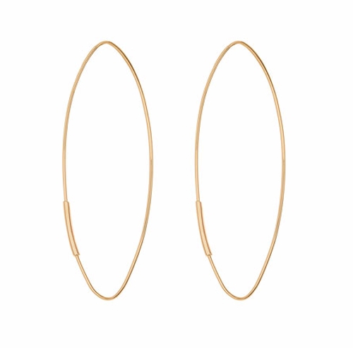 Straight Magic Large Hoop Earrings by Lana in Keeping Up With The Kardashians - Season 12 Episode 21