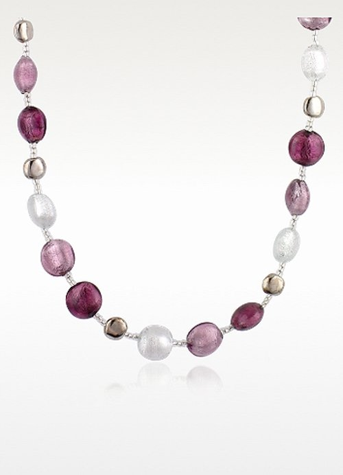 Frida Murano Glass Bead Necklace by Antica Murrina in The DUFF