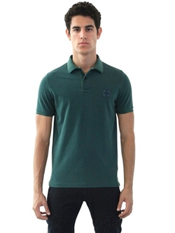 Slim Fit Washed Cotton Piqué Polo Shirt by Stone Island in Scarface