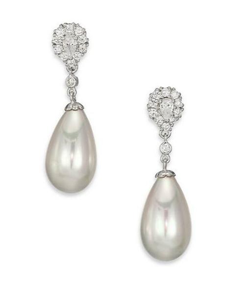 Teardrop Pearl & Sterling Silver Earrings by Majorica in American Horror Story - Season 5 Episode 6