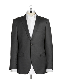 Jack Slim Two-Button Wool Blazer by Black Brown 1826 in Side Effects