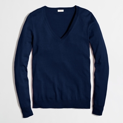 Factory Cotton V-Neck Sweater by J.Crew in Modern Family
