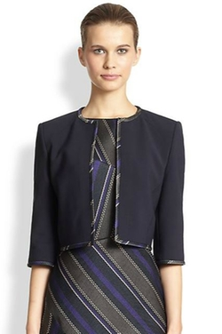 Contrast-Trim Cropped Jacket by Hugo Boss in Scandal