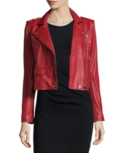 Leather Motorcycle Jacket by Iro in Grace and Frankie