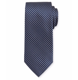 Textured Diamond Neat Silk Tie by Brioni in Billions