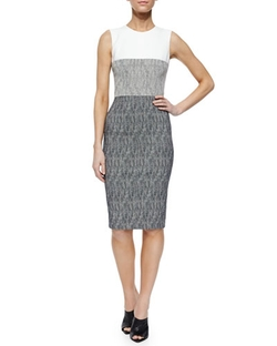 Sleeveless Colorblock Sheath Dress by Narciso Rodriguez in Fuller House