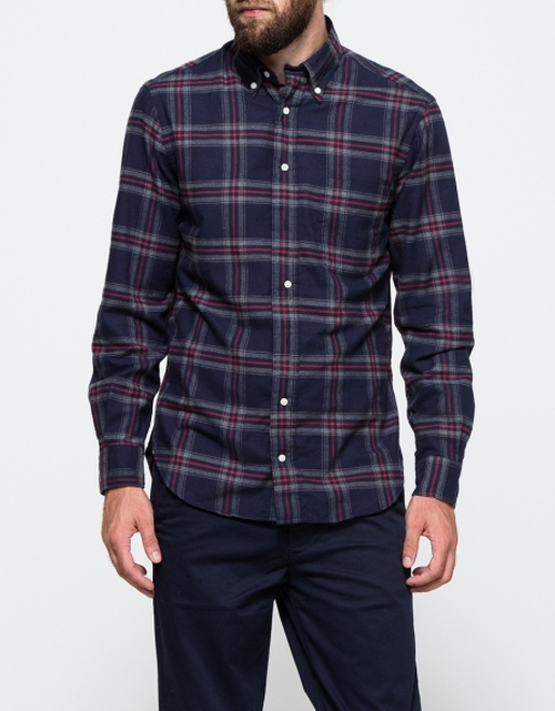 Japanese Indigo Plaid Shirt by Gitman Brothers Vintage in Scandal - Season 5 Episode 2