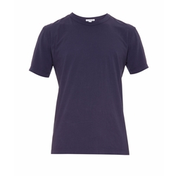 Crew-Neck Cotton-Jersey T-Shirt by James Perse in Flaked