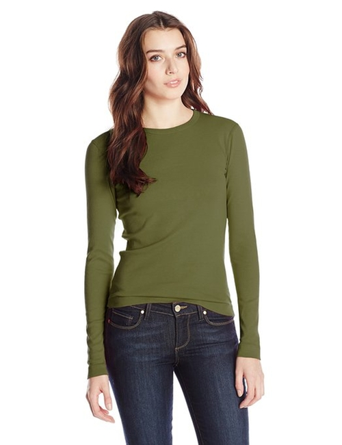 Women's Long Sleeve Crew Neck Tee Shirt by Three Dots in Mr. & Mrs. Smith