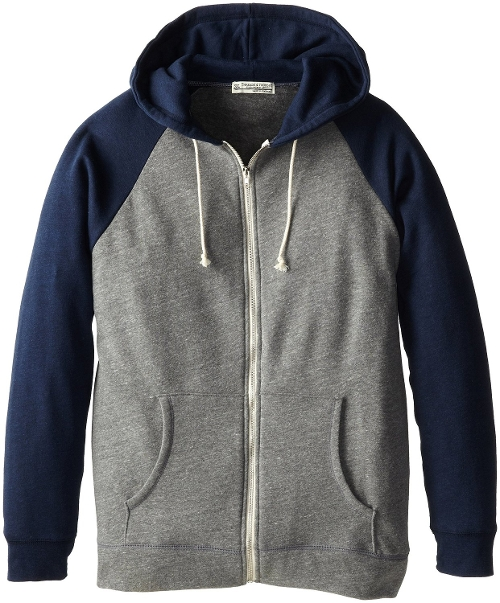 Contrast Raglan Zip Hoodie by Threads 4 Thought in The Best of Me