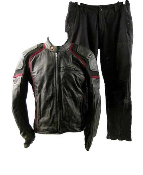 Leather Motorcycle Jacket by KTM Powerwear in Point Break