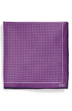 Dot Silk Pocket Square by W.R.K in Rosewood