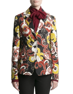 Floral Stretch Cotton Blazer by Pink Tartan in The Good Wife
