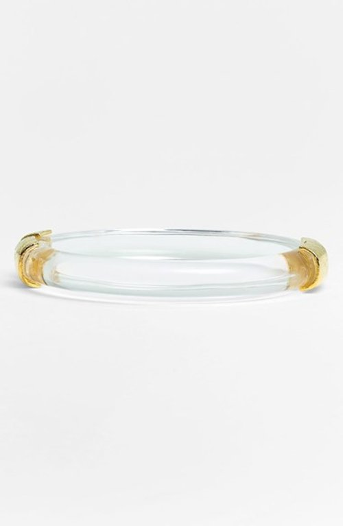 Lucite Hinged Bangle Bracelet by Alexis Bittar in Focus