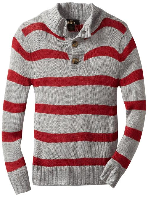 Boys 8-20 Bozrah Henley Stripe Sweater by X-Label in Walk of Shame