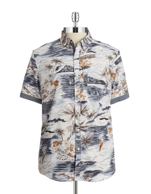 Hawaiian Sportshirt by 7 Diamonds in The Blacklist - Season 3 Episode 6