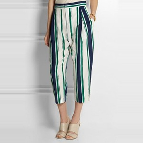 Cropped Stripe Trousers by Chloé in Scream Queens - Season 1 Episode 3