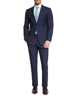M-Line Solid Two-Piece Wool Suit by Armani Collezioni in The Accountant