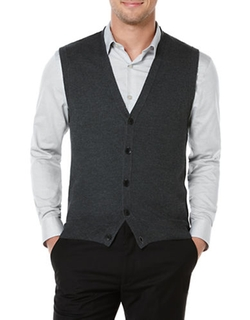 Honeycomb-Stitched Sweater Vest by Perry Ellis in The Boy