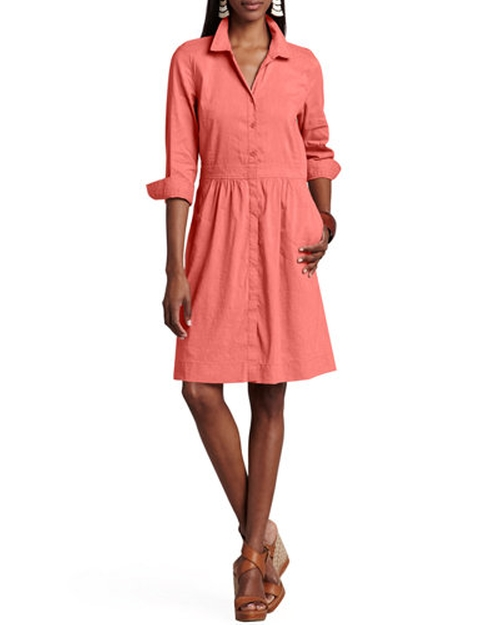 Linen-Blend Shirtdress by Eileen Fisher in Master of None - Season 1 Episode 6