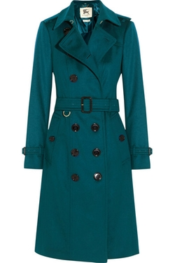 Brushed-Cashmere Trench Coat by Burberry London in Conviction