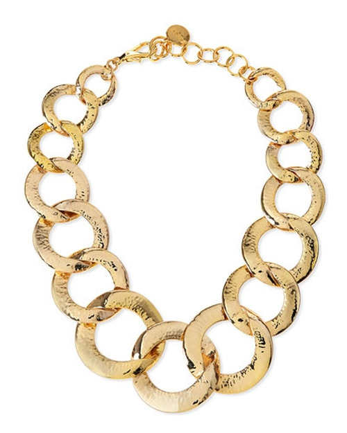 Hammered Gold-Plated Chain Link Necklace by Nest Jewelry in Empire - Season 2 Episode 2