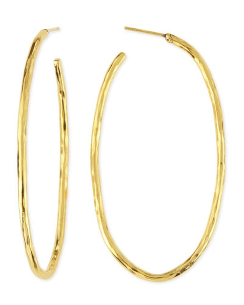 Epure Gold-Plated Simple Tube Hoop Earrings by Herve Van Der Straeten in Mr. & Mrs. Smith