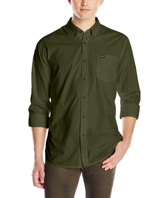 Men's Revival Long Sleeve Shirt by RVCA in Clueless