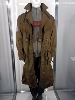 Customized Trench Coat by Kurt and Bart (Costume Designer) in Ghost in the Shell