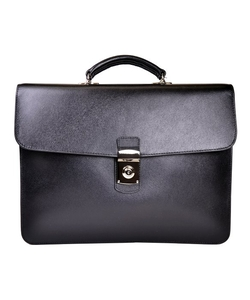 Luxury Slim Briefcase In Saffiano Leather With Suede Lining by Royce Leather in Suits