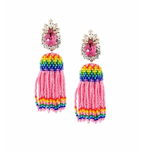 'Totem' Beaded Tassel Earrings by Shourouk in Scream Queens - Season 2 Episode 3