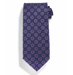 Square Medallion-Print Silk Tie by Stefano Ricci in Ballers