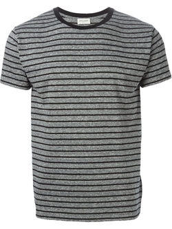 Striped T-Shirt by Saint Laurent in Quantico
