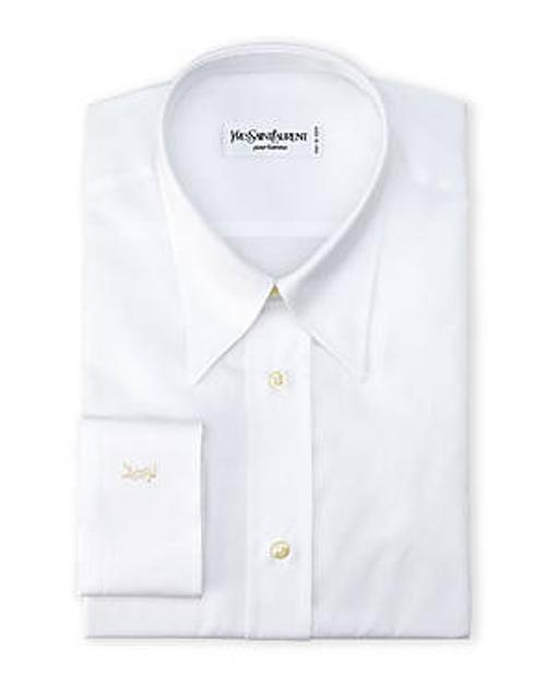 White Barrel Cuff Dress Shirt by Yves Saint Laurent in Lee Daniels' The Butler