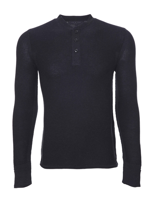 Cotton Griffin Henley by Rag & Bone in The Gunman