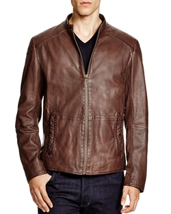 Jermon Leather Jacket by Boss Orange  in New Girl