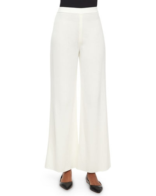 Washable Wide-Leg Pants by Misook in Elementary - Season 4 Episode 2