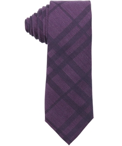 Bright Beetroot Nova Check Print 'Rohan' Silk Blend Tie by Burberry in Suits