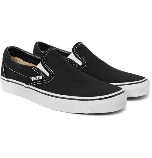 Classic Canvas Slip-On Sneakers by Vans in Pretty Little Liars