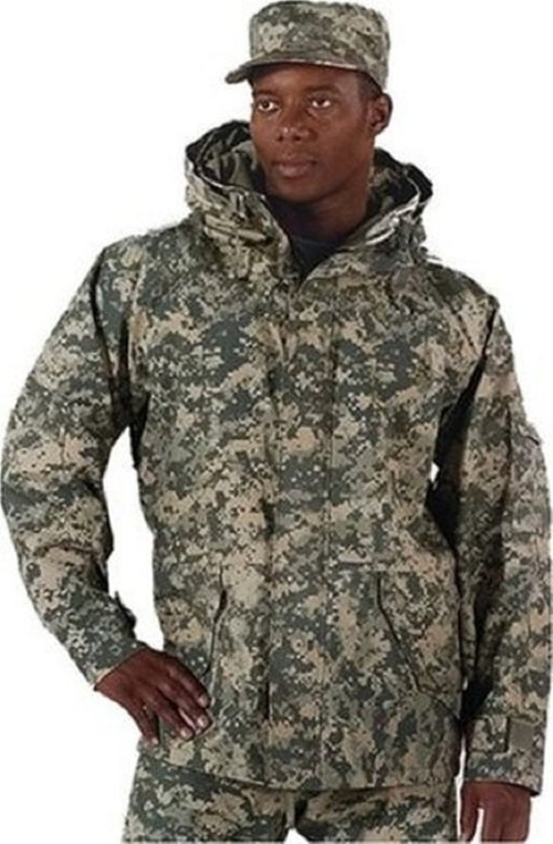 Army Digital Camouflage Hyvat Parka Jacket by Riot Threads in Love the Coopers