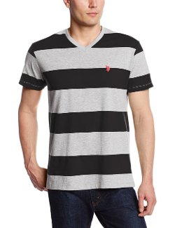 Men's Wide Striped T-Shirt by U.S. Polo Assn. in The Devil Wears Prada