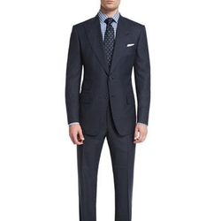Windsor Base Windowpane Two-Piece Suit by Tom Ford in Suits