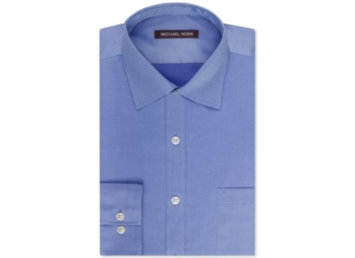 Solid Sateen Dress Shirt by Michael Kors in Vice