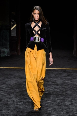 Embellished Suede and Patent Leather Belt by Balmain in Empire