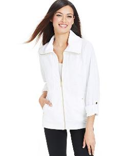 Sport Zip-Front Jacket by Style&co. in Tammy