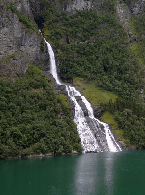 The Suitor Waterfall Geiranger, Norway in Ex Machina