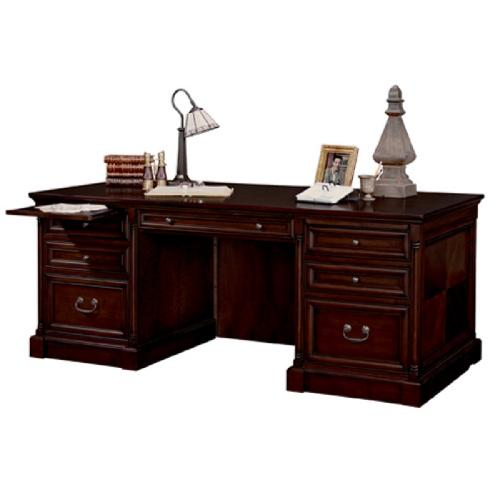 Double Pedestal Executive Desk with Optional Chair by Martin Mount View in Vampire Academy